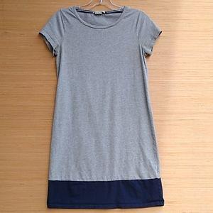 Boden color block gray & navy t-shirt dress 6R